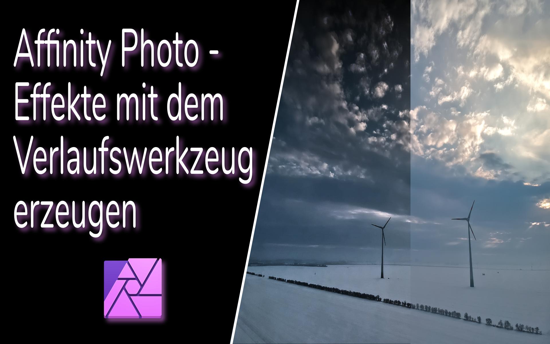 Affinity Photo – Effekt mit dem Verlaufswerkzeug erzeugen